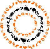 Animal planet - collection of ecological icons Stock Photos