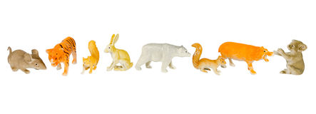 Animal plastic toys Stock Images