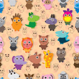 Animal Play Animal Seamless Pattern Stock Photo