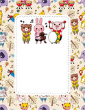 Animal Play Music Card Stock Image