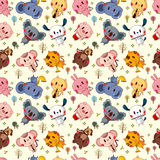 Animal play music seamless pattern Royalty Free Stock Images