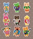 Animal play music stickers Royalty Free Stock Photo