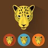 Animal Portrait / Leopard. Flat Style Animal Portrait / Colorful Design / Leopard Stock Image