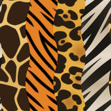 Animal Print Background. A background featuring four different strips of animal print. Seamlessly Repeatable Stock Images