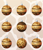 Animal Print Baubles Royalty Free Stock Photo