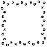 Animal Print Boarder. Cute animal paw prints in a boarder Stock Image