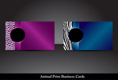 Animal Print Business Cards, Raster Version Stock Photography