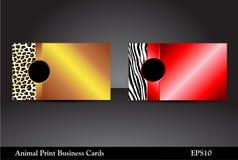 Animal Print Business Cards, Raster Version Royalty Free Stock Photo