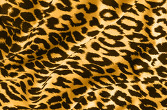Animal print on fabric. Leopard, tiger.  Look at my gallery for more backgrounds and textures Royalty Free Stock Photos