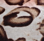 Animal print on fabric. Royalty Free Stock Photos