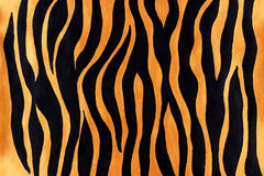 Animal print pattern. Abstract animal print painted with glossy golden and black acrylic paint Stock Photo