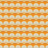 Animal print. Seamless pattern with cute fox faces. Stock Images