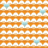 Animal print. Seamless pattern with cute fox faces. Royalty Free Stock Images