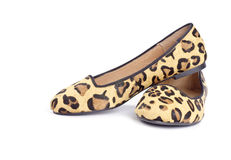 Animal Print Shoes Series #4. Animal print shoes isolated on white, series #4 stock images