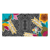 Animal print with tropical flowers design Royalty Free Stock Photography