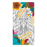 Animal print with tropical flowers design Royalty Free Stock Image