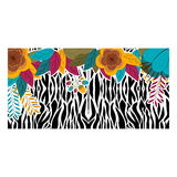 Animal print with tropical flowers design Royalty Free Stock Photo