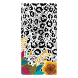 Animal print with tropical flowers design Royalty Free Stock Images