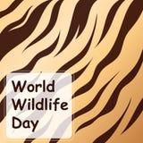 Animal prints design, vector illustration. World Wildlife Day Stock Photography