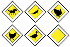 Animal priority signs Stock Images