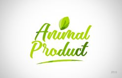 animal product green leaf word on white background stock photo