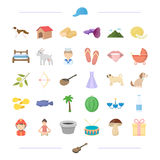 Animal, profession, food and other web icon in cartoon style. leisure, interior, wedding icons in set collection. Royalty Free Stock Photos