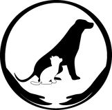 Animal protect. Illustration of animal care and protect symbol Stock Photography