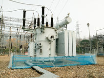 Animal protection nets of High voltage Transformer Stock Photography