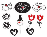 Animal protections and veterinary signs. Symbols Stock Photos