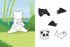 Animal puzzle. A vector illustration of panda puzzle Royalty Free Stock Images