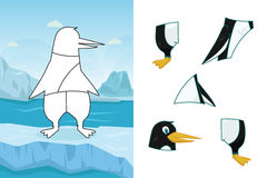 Animal puzzle. A vector illustration of penguin puzzle Stock Image