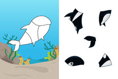 Animal puzzle. A vector illustration of whale puzzle Stock Photography