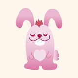 Animal rabbit flat icon elements, eps10. Vector illustration file Royalty Free Stock Photos