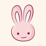 Animal rabbit flat icon elements, eps10 Stock Images