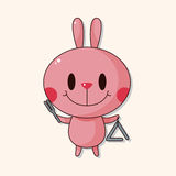 Animal rabbit playing instrument cartoon theme elements. Vector illustration file Royalty Free Stock Image