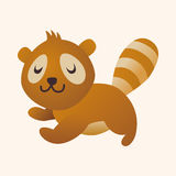 Animal raccoon flat icon elements, eps10 Stock Photo