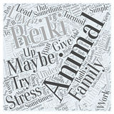 Animal Reiki word cloud concept vector background Stock Image