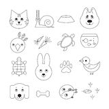 Animal related icon or pet logo set Stock Photography