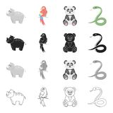 Animal related icon set Royalty Free Stock Photography