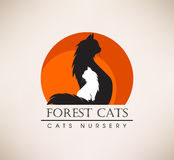 Animal rescue, veterinary, shop. Pets Logo Royalty Free Stock Images