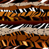 Animal ribbon pattern Stock Photos