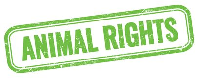 Free ANIMAL RIGHTS Text On Green Grungy Vintage Stamp Royalty Free Stock Photos - 216594668