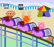 Animal roller coaster Stock Images