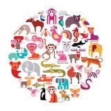 Animal Round Vector Illustration Stock Photos