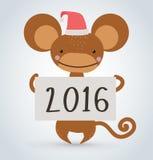 Animal salvaje de la historieta del mono del mono de la Navidad del Año Nuevo Imagen de archivo libre de regalías