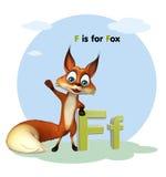 Animal salvaje del Fox con el alphabate Imagen de archivo
