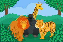 Animal salvaje en la selva stock de ilustración