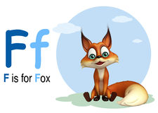 Animal sauvage de Fox avec l'alphabate Illustration Stock