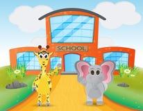 Animal school illustration Stock Image