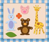 Animal. scrapbook elements Stock Images